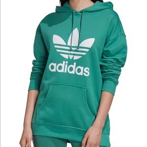 NWT Adidas Original Cotton Trefoil Hoddie green